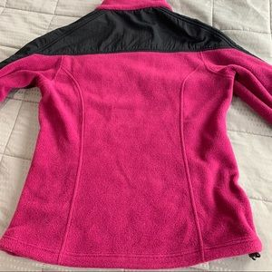 Columbia Jackets & Coats - Colombia Pink & Black Fleece Jacket Sz M
